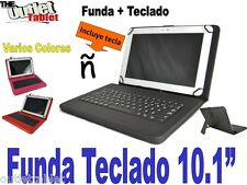 "FUNDA CON TECLADO PARA TABLET CLAN TV 10 10.1"" funda TECLADO EXTRAIBLE"