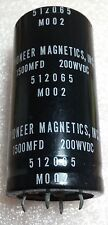2pcs Pioneer Magnetics 200V 1500uF Electrolytic Capacitor 512065 US Made, Audio