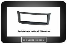 Radioblende in SMART Roadster BR452 Einbaurahmen für DIN Autoradio / Anthrazit /
