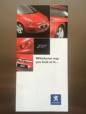 Peugeot 307 SP Genuine Accessories Brochure - FREE postage and packing