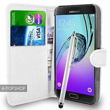 White Wallet Case PU Leather Book Cover For Samsung Galaxy A5 2016 A510 Mobile