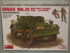 MiniArt 1/35 Scale Dingo Mk.III, British Scout Car w/Crew - Factory Sealed