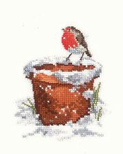 Heritage Crafts Sue Hill Colección De Aves Cross Stitch Kit Amigo De Jardín