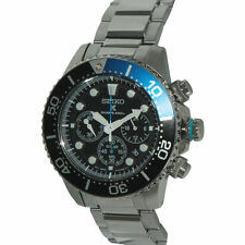 NEW Seiko Mens Chronograph Diver Solar Watch SSC017P1