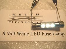 NEW 8 VOLT WARM WHITE LED FUSE TYPE LAMP MOD UPGRADE  STEREO HIFI