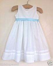 NWT STRASBURG 12M 'LEXI' WHITE SLIP DRESS BEACH PORTRAIT FLOWER GIRL 100% Cotton