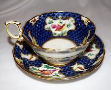 Antique Gilman Collamore Handpainted Bone China Footed Tea Cup & Saucer England