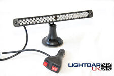 Lightbar UK 66 LED Emergency Recovery Flashing RED/Amber Dash Light Window Mount
