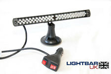 Lightbar UK 66 LED Emergency Recovery Flashing RED Dash Light Window Mount