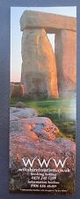 BOOKMARK STONEHENGE Wiltshire Tourism Promotional Advertising
