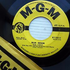 DICK CARUSO Blue Denim / I'll tell you in this song 1959 TEEN BOPPER 45 e3849