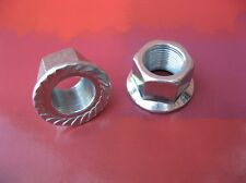 PAIR OF  CHROME BMX FREESTYLE 14mm AXLE WHEEL NUTS  ***NEW***