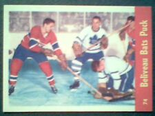 JEAN BELIVEAU /HARRY LUMLEY 1955-56 LIMITED EDITION PARKHURST REPRINT CARD No.74
