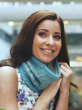 KNITTING PATTERN Ladies Denbigh Cowl Slip Stitch Zigzag Patterned Scarf PATTERN