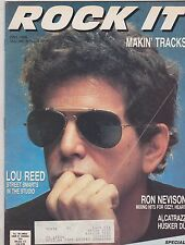 FALL 1986 ROCK IT vintage music magazine - LOU REED