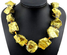 Raw Titanium Crystal Agate Druzy Quartz Geode Stone Necklace Jewellery N40007