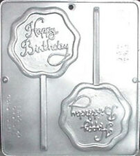 Happy Birthday Lollipop Chocolate Candy Mold  3306 NEW