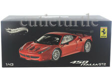 Hot Wheels Elite Ferrari 458 Italia GT2 Launch Version 1:43 Diecast Red X2861