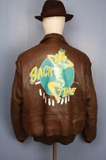 Superb Vtg AVIREX G-1 US NAVY 'Sack Time' Flight Leather Jacket Large
