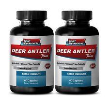 Antler Velvet Extract - Deer Antler Plus 550mg - Improves Energy Level Pills 2B
