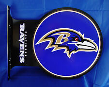 Baltimore Ravens Large Wall Metal Flange Sign Bar Decor NFL Licensed Football