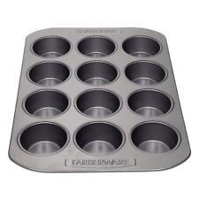 Farberware Nonstick Bakeware 12-Cup Muffin Pan, Gray New
