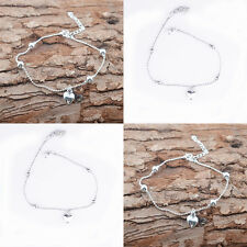 Fashion S925 Sterling Silver Anklet Foot Chain Soles Ankle Barefoot Bracelet