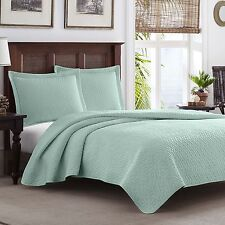 Tommy Bahama Chevron Harbor Blue 3-piece Quilt Set