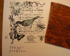 """Collage rubber stamp """"The garden of to-morrow CM P6"""
