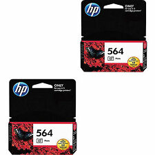 2-pack GENUINE HP 564 CB317WN Photo Black Ink Cartridge For D5445 D5460 D5468