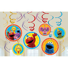 Sesame Street Party Supplies Swirl Decorations 12ct