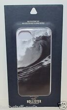 HOLLISTER OCEAN WAVE BLACK WHITE GRAPHIC PLASTIC HARD IPHONE 5 5S CASE SLEEVE