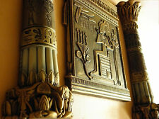 Egyptian bas-relief OSIRIS & two columns autorship only in this shop JL