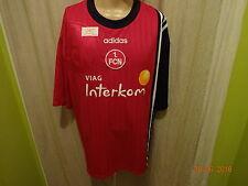 """1.FC Nürnberg Original Adidas Trikot 1998/99 """"Viag Interkom"""" + Signiert Gr.XXL"""