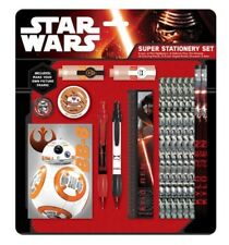 NEW STAR WARS  STATIONERY SET SCHOOL COLOURING PENCIL NOTEBOOK PEN SET