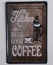 Retro Metal art Poster Coffee Picture vintage Tin Signs Bar pub home Wall Decor