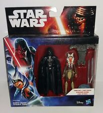 Star wars rebelles darth vader & ahsoka tano figurines twin pack moc new hasbro