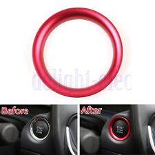 Lega Motore Inizio Chiave Anello tagliare Mazda Axela Red Ignition Key Trim DB