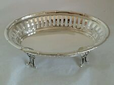 Sterling silver Bon Bon Dish.Art nouveau design. Chester.By Robert Pringle & Son