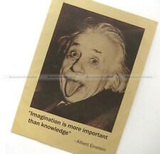 New Einstein Poster Vintage Imagination is more important than knowledge HOME044