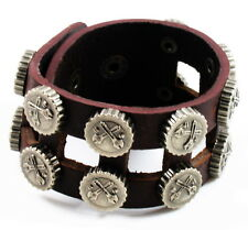 Leather Bracelet Mens Style Brown buckle waistband surfur UNIQUE COOL fashion