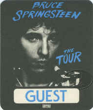 BRUCE SPRINGSTEEN 1981 THE RIVER BACKSTAGE PASS Guest