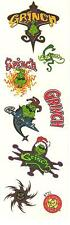 Vintage Dr. Seuss How The Grinch Stole Christmas Stickers 2 Strips