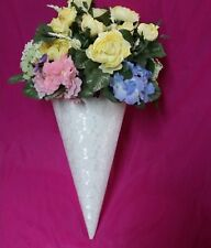 Wedding Pew Cone (For Silk Flowers) Lot of 4