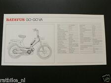 BATAVUS GO-GO VA TECHNICAL INFOCARD BROMFIETS,MOPED,MOFA
