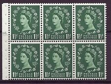 SB66 Wilding booklet pane Wmk Crowns cylinder G16T Dot UNMOUNTED MNT/MNH