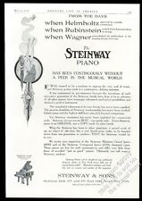 1908 Steinway miniature grand piano art nouveau woman vintage print ad