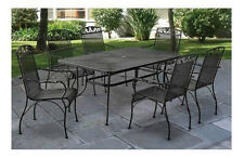 Patio Furniture Sale Wrought Iron Dining Set 6 Person 7 Piece With Table Chairs