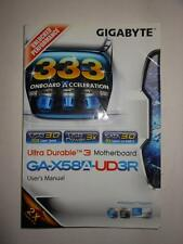 Gigabyte GA-X58A-UD3R, X58 User Manual, Installation Guide for Motherboard Used*
