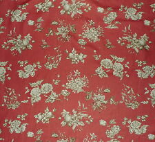 CLAREMONT Rosa Bernal Floral Printed Linen Spain Rust New 2+ yards